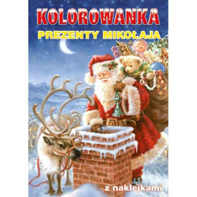 _xx_Kolorowanka BN Prezenty Mikołaja