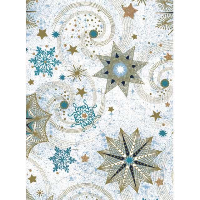 _xx_papier ozdobny 2 metry ?wi?teczny wzór gwiazd 52390
