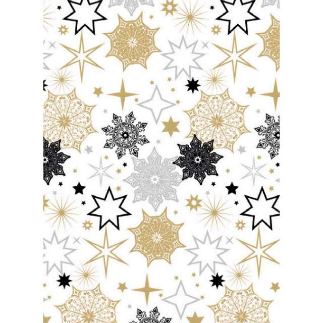 _xx_papier ozdobny 2 metry biało-złoty  52388