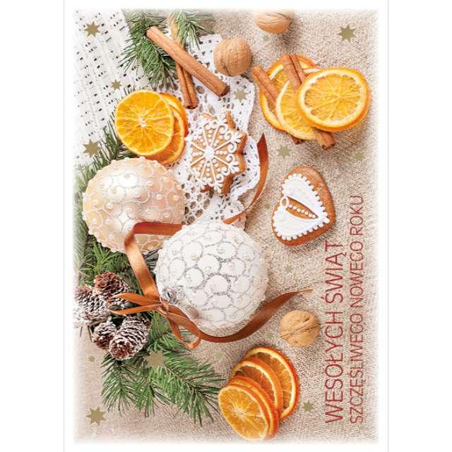 _xx_pocztówka złocona piernik i pomarańcze 41258