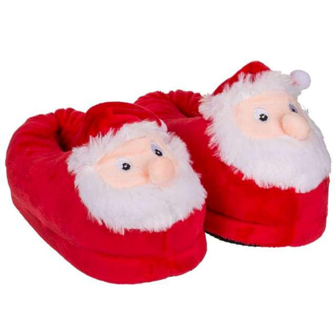 """Kapcie """"Świętego Mikołaja"""", czerwone, rozm. 37-38, OoTB"""