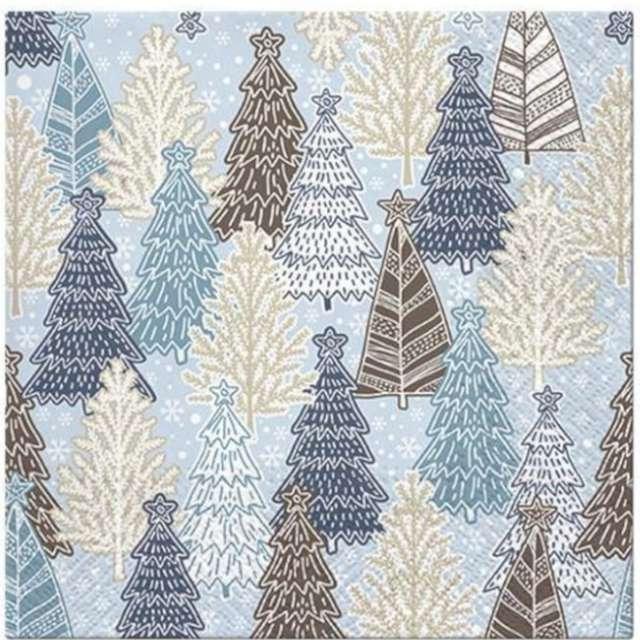 _xx_Serwetki Glittery Spruces (blue)