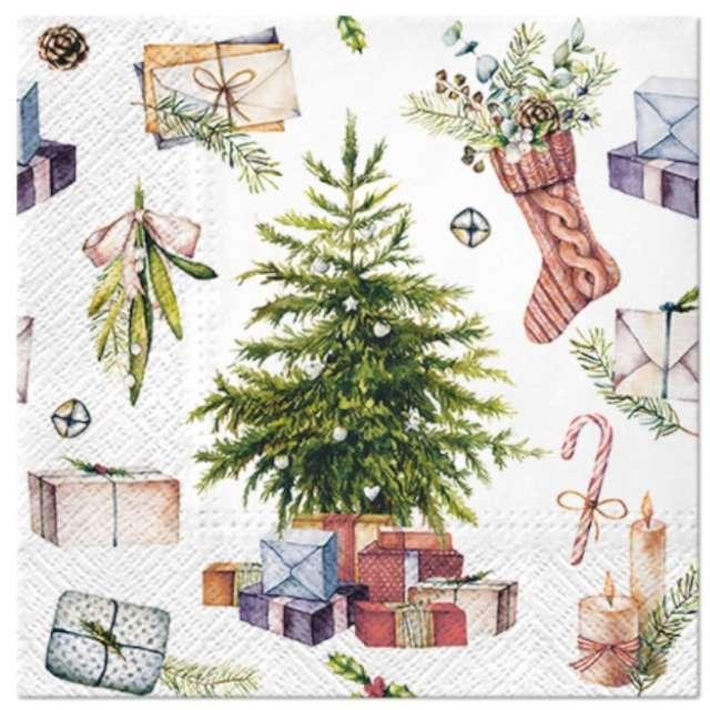 """Serwetki """"Choinka - Boże Narodzenie"""", Paw, 33 cm, 20 szt"""