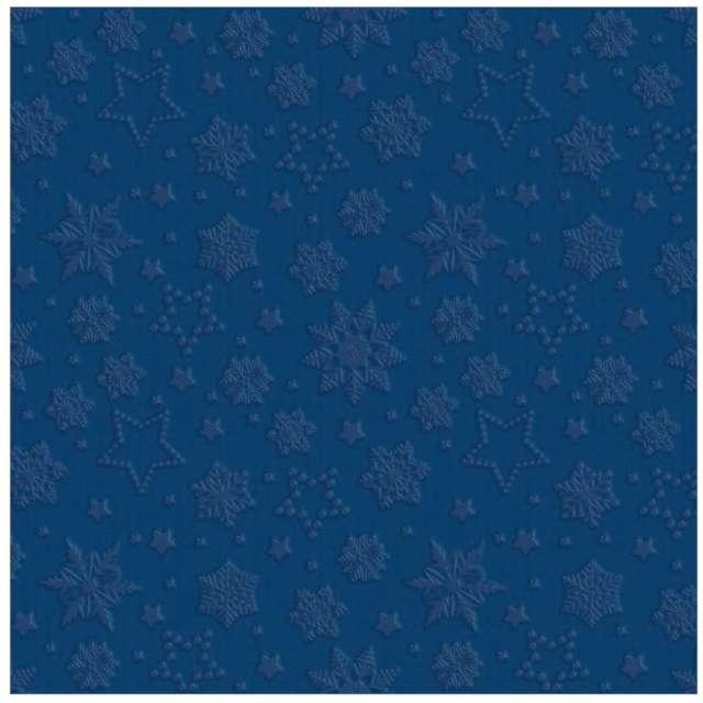 _xx_Serwetki Inspiration Winter Flakes navy blue