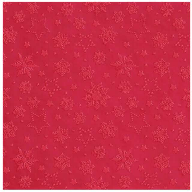 _xx_Serwetki Inspiration Winter Flakes red