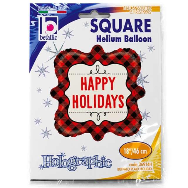 Balon foliowy Buffalo - Happy Holidays Betallic 18 SHP