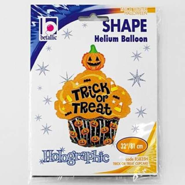 Balon foliowy Trick or Treat - Babeczka Halloweenowa Betallic 32 SHP