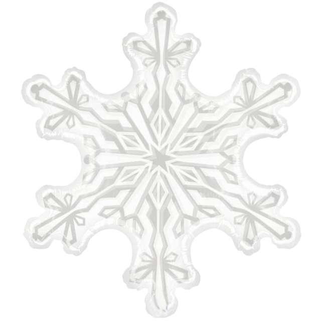 """Balon foliowy """"Śnieżynka"""", transparent, Betallic, 38"""", SHP"""