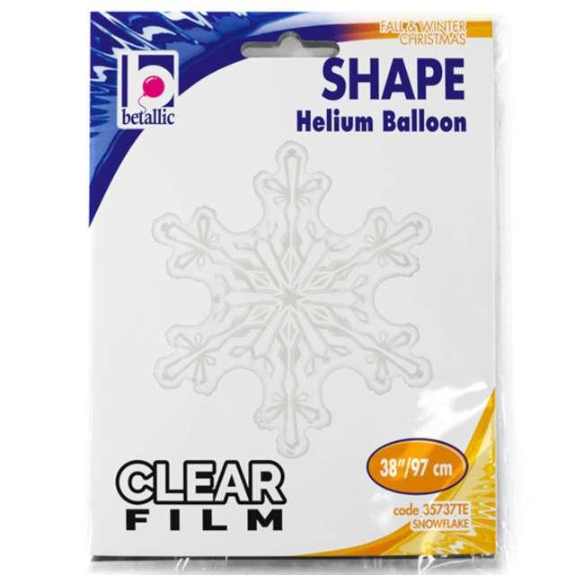Balon foliowy Śnieżynka transparent Betallic 38 SHP