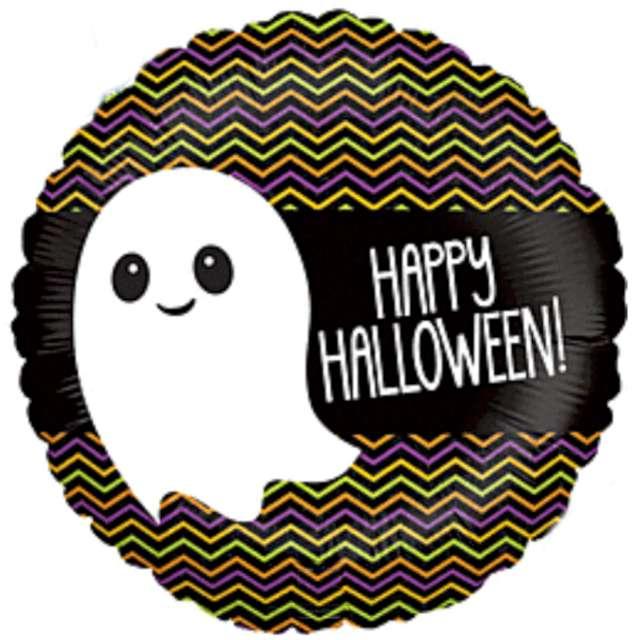 """Balon foliowy """"Happy Halloween z duszkiem"""", Betallic, 18"""", RND"""