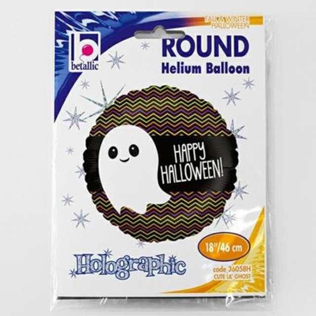 Balon foliowy Happy Halloween z duszkiem Betallic 18 RND