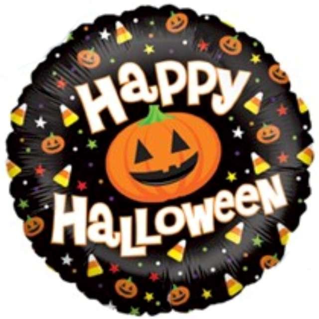 """Balon foliowy """"Happy Halloween z dynią"""", Betallic, 18"""", RND"""