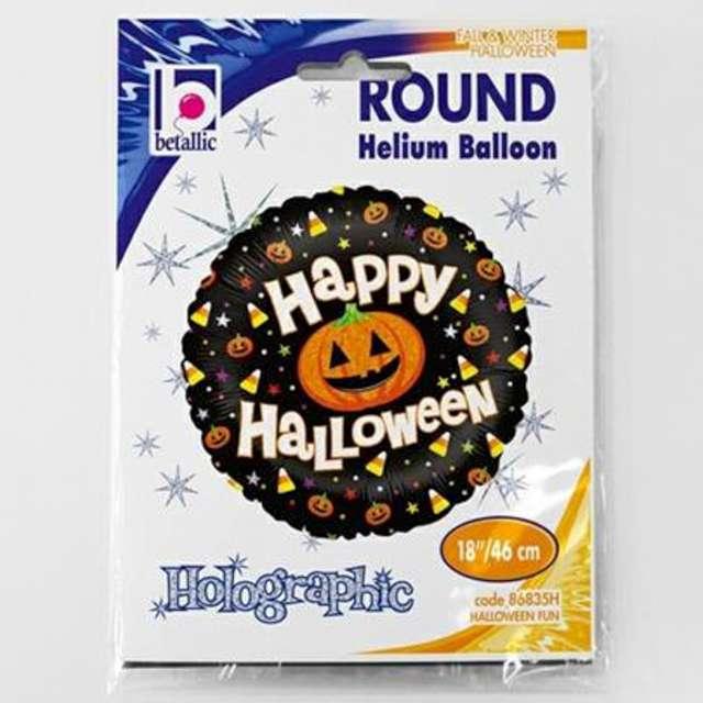 Balon foliowy Happy Halloween z dynią Betallic 18 RND