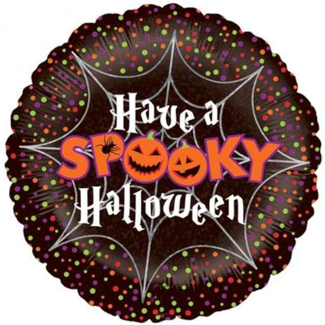 "Balon foliowy ""Have a spooky halloween"", Betallic, 18"", RND"