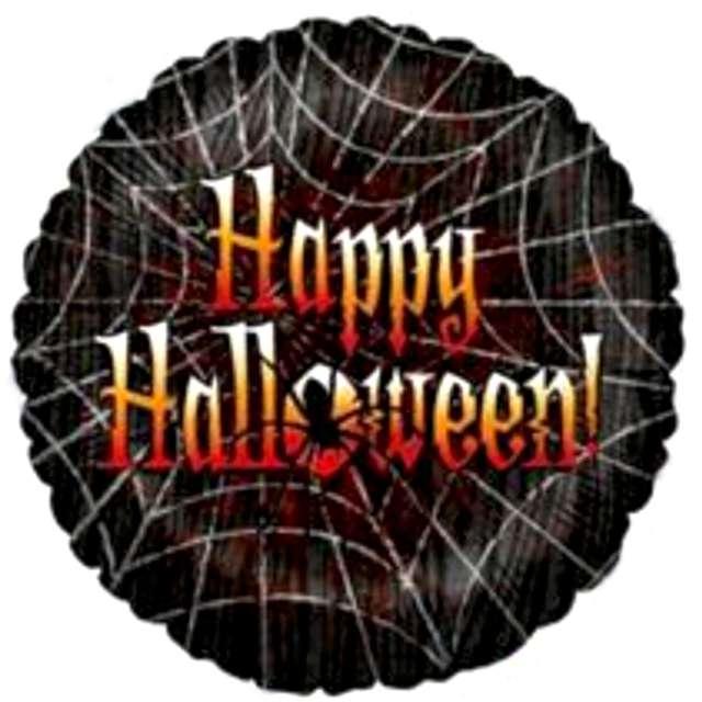 """Balon foliowy """"Happy Halloween w pajęczynie"""", Betallic, 18"""", RND"""