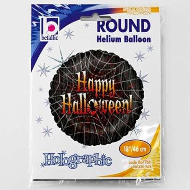 Balon foliowy Happy Halloween w pajęczynie Betallic 18 RND