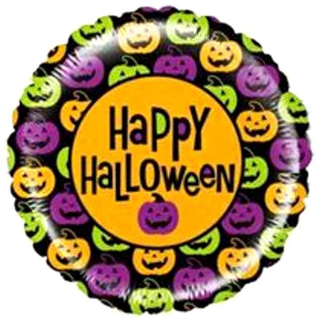 "Balon foliowy ""Happy Halloween dynie mix"", Betallic, 21"", RND"