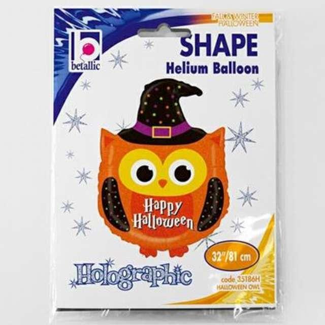 Balon foliowy Sowa w czarodziejskim kapeluszu Betallic 32 SHP