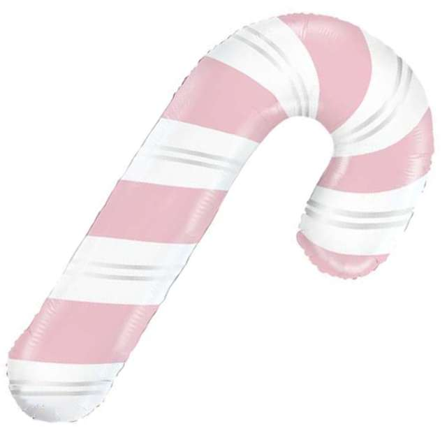 """Balon foliowy """"Laska cukrowa"""", biało-różowa, Grabo, 41"""", SHP"""
