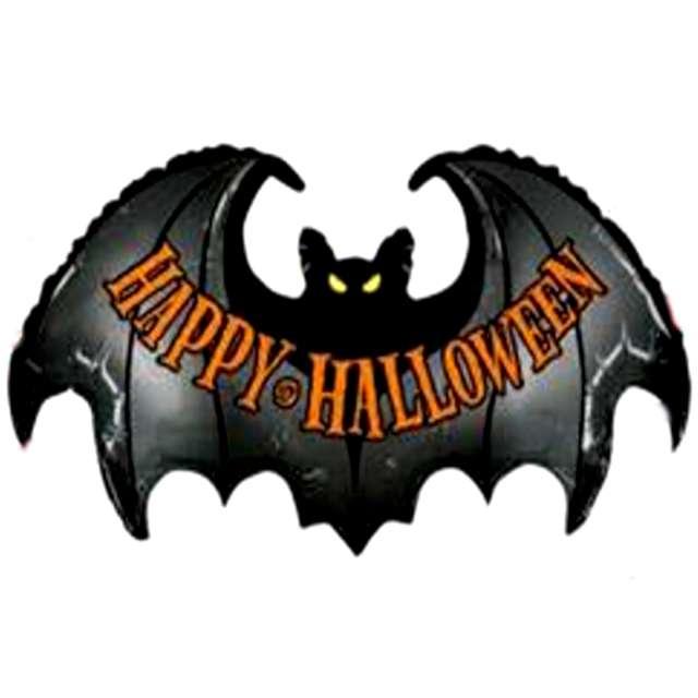 """Balon foliowy """"Happy Halloween z nietoperzem"""", Betallic, 42"""", SHP"""