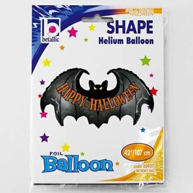 Balon foliowy Happy Halloween z nietoperzem Betallic 42 SHP