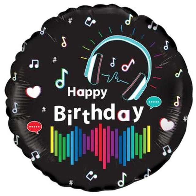 Balon foliowy Happy Birthday - gra muzyka Oaktree 18 RND