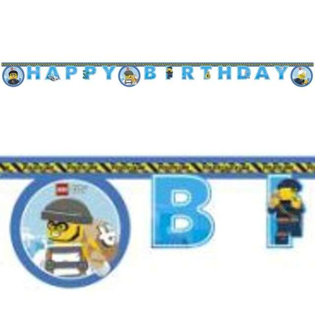 Baner Lego City niebieski Procos 200 cm