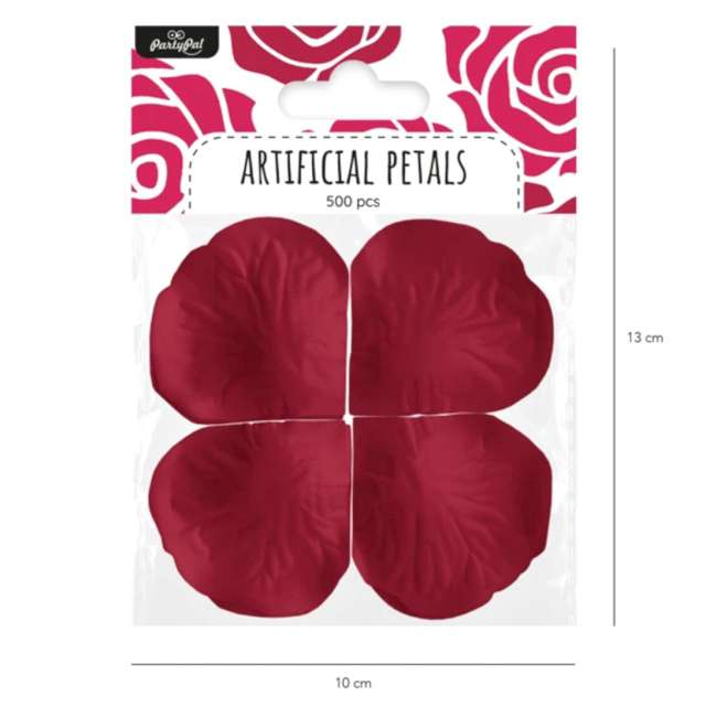 Płatki róż Classic bordowe PartyPal 500 szt
