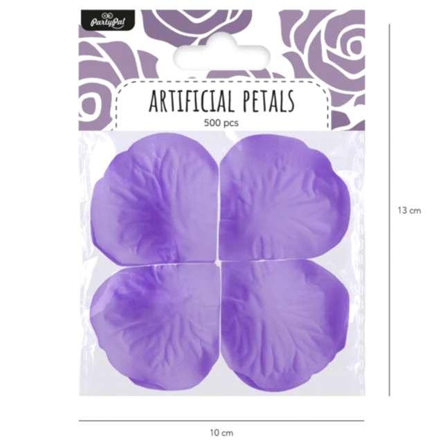 Płatki róż Classic fioletowe PartyPal 500 szt