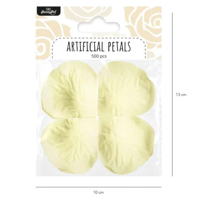Płatki róż Classic kremowe PartyPal 500 szt