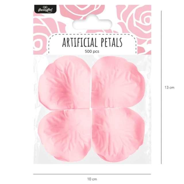 Płatki róż Classic różowe PartyPal 500 szt