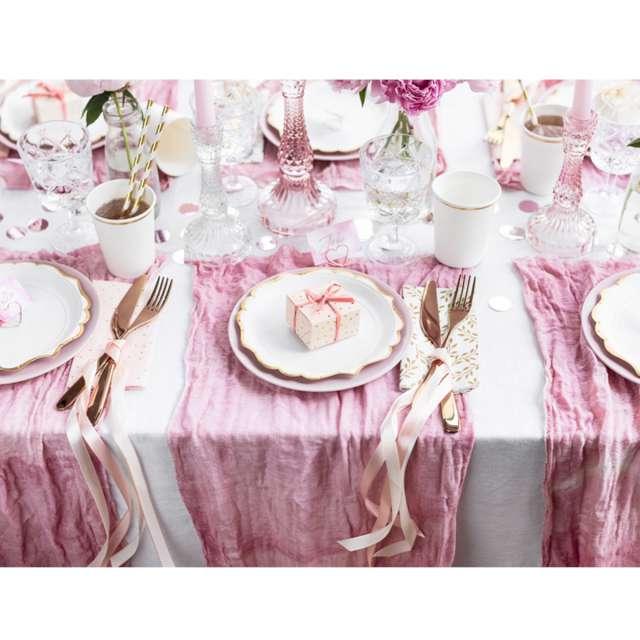 _xx_Pudełeczka Kropki jasny różowy  6x3.5x5.5cm (1 op. / 10 szt.)
