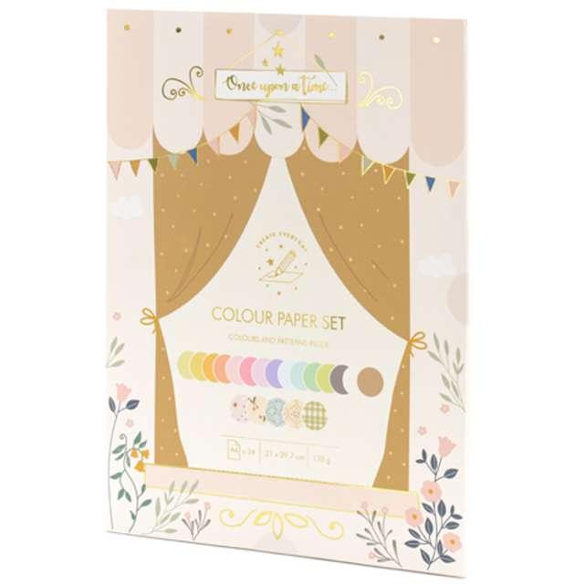 _xx_Zestaw papierów kolorowych - wycinanki A4 mix 34 arkusze