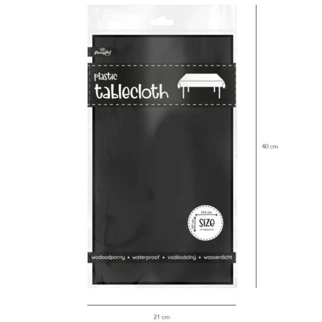 Obrus foliowy Classic czarny PartyPal 274x137 cm
