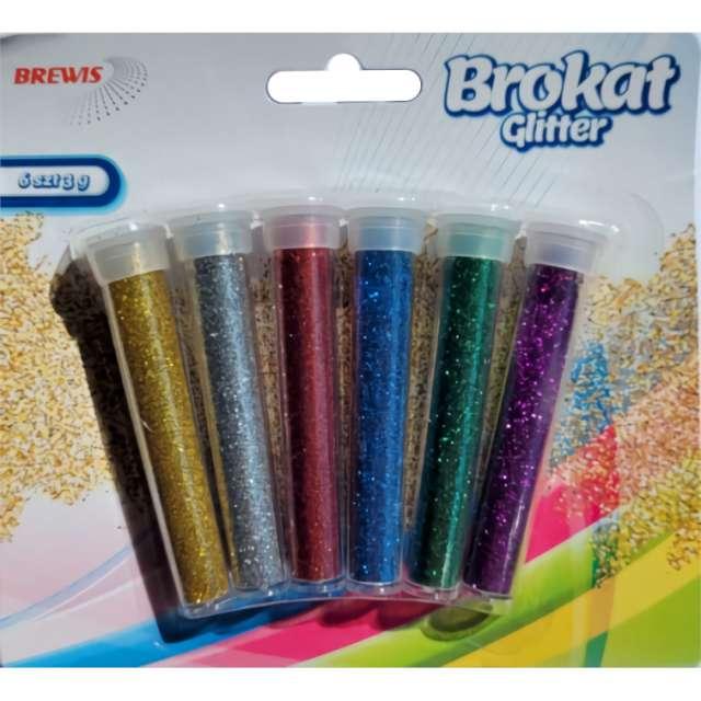 _xx_Brokat sypki 6 kolorów x3 gramy