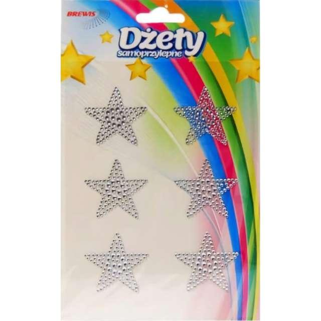 _xx_Dzety gwiazdki samoprzylepne srebrne x6