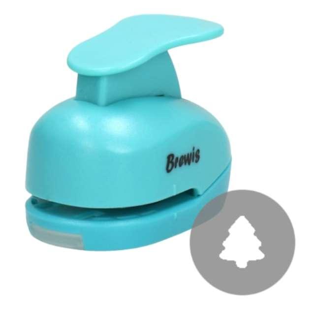 """Dziurkacz kreatywny """"Świąteczna Choinka"""", błękitny, Brewis, 1,6 cm"""