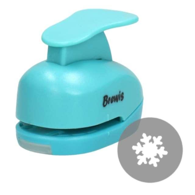 """Dziurkacz kreatywny """"Świąteczna Śnieżynka"""", błękitny, Brewis, 1,6 cm"""