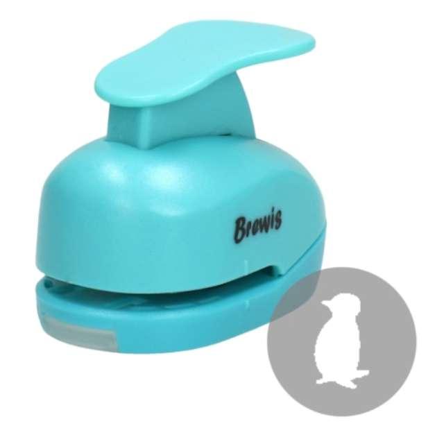 """Dziurkacz kreatywny """"Świąteczny Pingwin"""", błękitny, Brewis, 2,5 cm"""