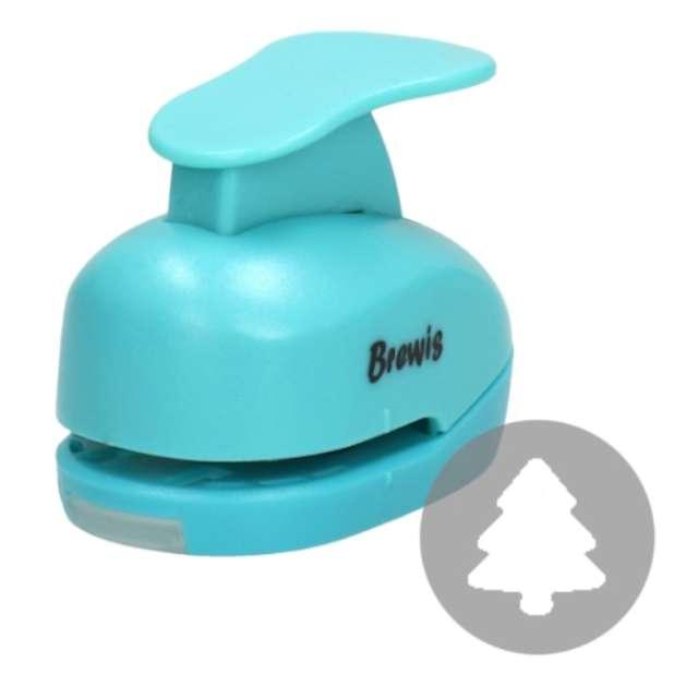 """Dziurkacz kreatywny """"Świąteczna Choinka"""", błękitny, Brewis, 3,8 cm"""