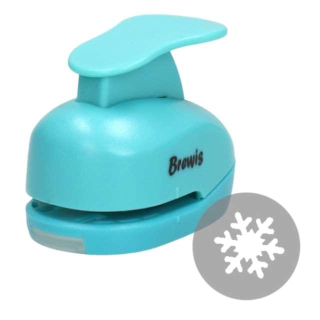 """Dziurkacz kreatywny """"Świąteczna Śnieżynka"""", błękitny, Brewis, 3,8 cm"""