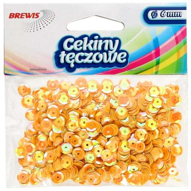 _xx_Cekiny tęczowe 6mm żółty