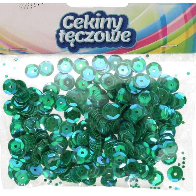 _xx_Cekiny tęczowe 8mm zielony c