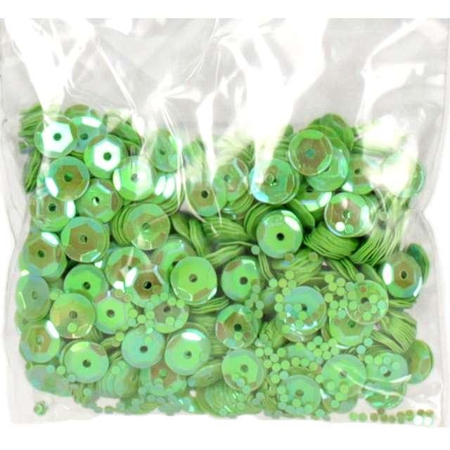 _xx_Cekiny tęczowe 8mm zielony j