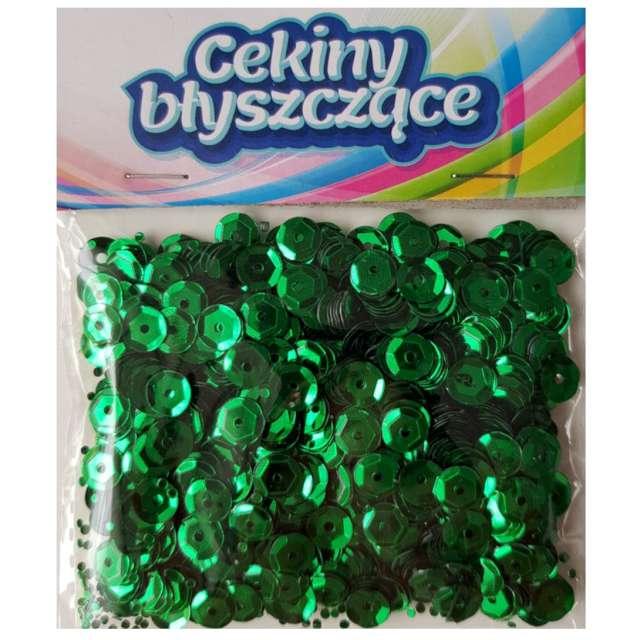 _xx_Cekiny błyszczące 6mm zielony