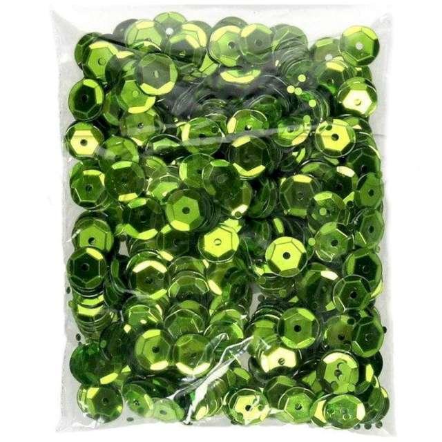 _xx_Cekiny tęczowe 8 mm  jasny zielony