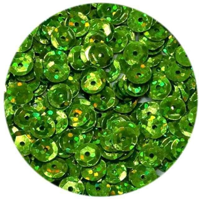 """Cekiny """"Classic Holo"""", zielone jasne, 8 mm, 10 g, Brewis"""