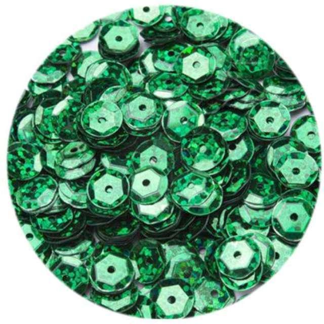 "Cekiny ""Classic Holo"", zielone, 8 mm, 10 g, Brewis"