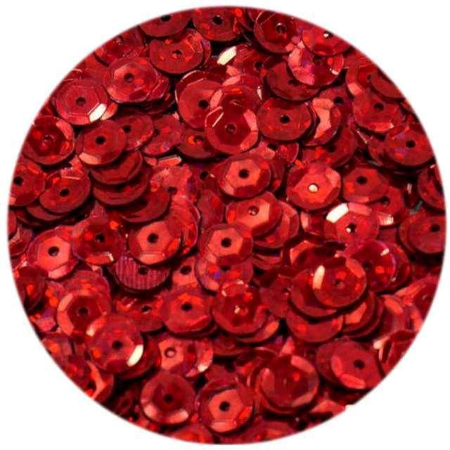 """Cekiny """"Classic Holo"""", czerwone, 8 mm, 10 g, Brewis"""