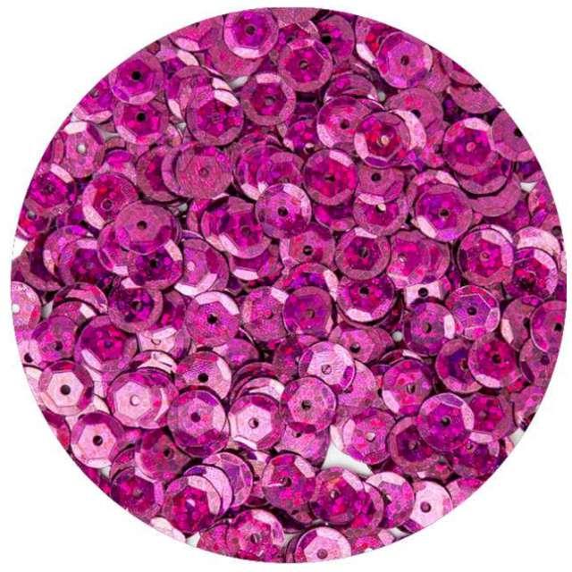 Cekiny Classic Holo różowe 6 mm 10 g Brewis